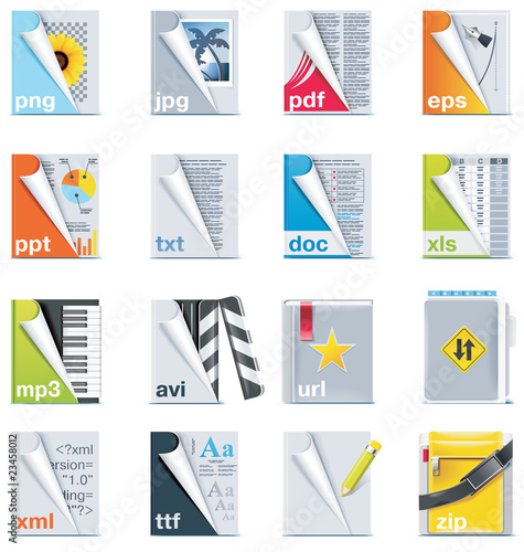 Set of the files and folders icons