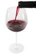 Glas Rotwein inklusive exaktem Beschneidungspfad