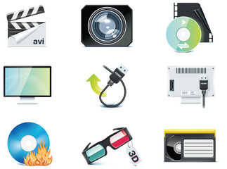 Vector video icons. Part 4
