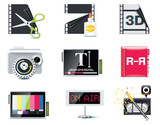 Vector video icons. Part 6