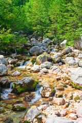 Cold alpine river water, Soca / Isonzo, Slovenia
