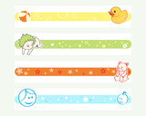 Colorful pregnancy tickers for online social networks poster