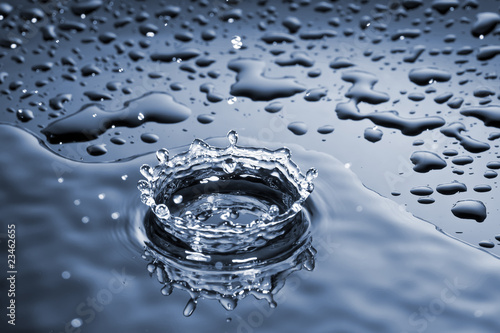 water drop splash crown