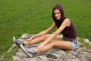 casual teenager outdoor