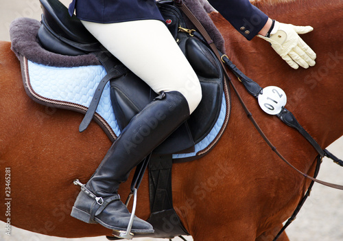 Leinwandbild Motiv Reitsport Detail - Horse Woman