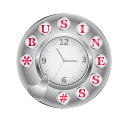 Telephone disk business and clock