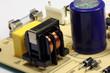 Elektronik Bauteile auf Platine