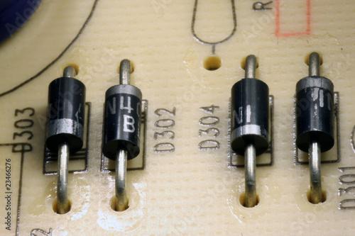 Transistoren auf Platine