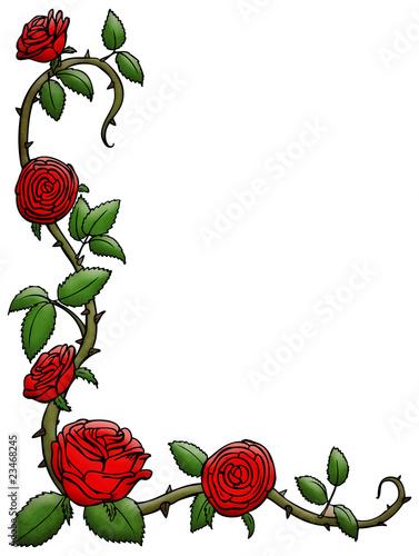 ranke eckverzierung rosen rose rosenranke stockfotos und lizenzfreie bilder auf fotolia. Black Bedroom Furniture Sets. Home Design Ideas