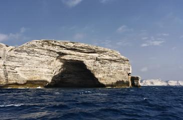France, Corsica, Bonifacio, the rocky coastline