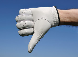 Golfer Giving Thumbs Down Sign