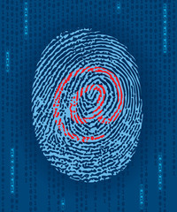 Digital finger-print with e-mail mark