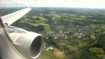 Flug über Deutschland