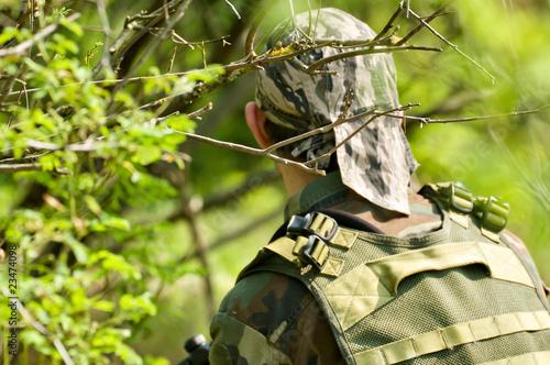 Soldato nel bosco