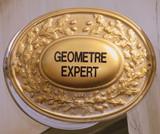 expert, géomètre, plaque, panneau, architecte poster