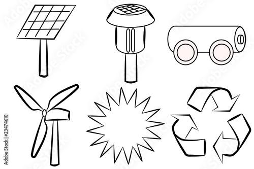 Energía renovable - Dibujos para colorear