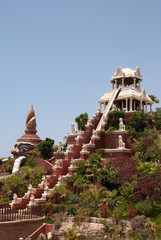 Attractions in the waterpark. Canary Islands, Tenerife