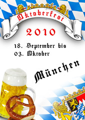 Oktoberfest flyer traditionell