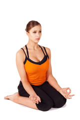 Woman doing Prenatal Yoga Exercise