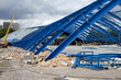 Metal Frame Structure on Contruction Site