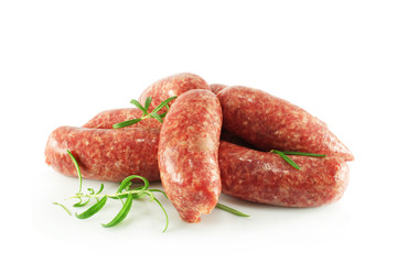 Homemade raw sausages