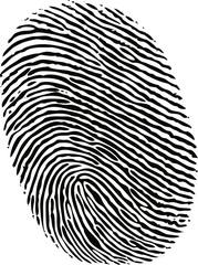 black ink fingerprint