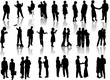 People silhouettes. Vector illustration