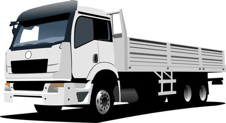 Vector illustration of white truck