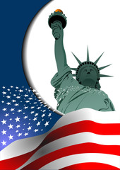 4th July – Independence day of United States of America. Poster