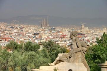 vue generale sur barcelone