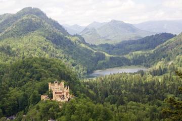 royal castle, mountain landscape