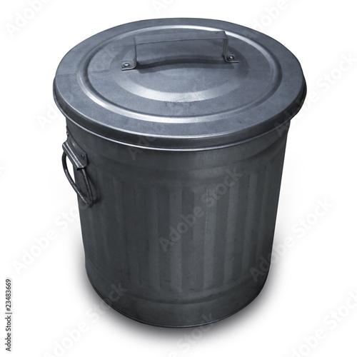 poubelle am ricaine en aluminium photo libre de droits. Black Bedroom Furniture Sets. Home Design Ideas