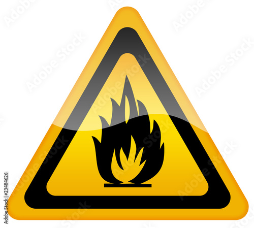 Fire warning sign