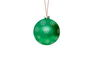 Bola de navidad verde