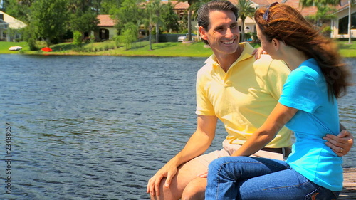Couple Enjoying Personal Time