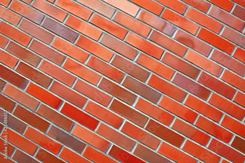 Diagonal brick wall
