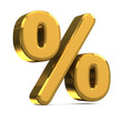 golden percentage symbol