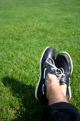 Nautical shoes in the park