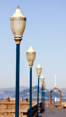 Beautiful street lamp at Fisherman's Wharf in San Francisco