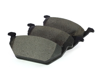 Three isolated disc brake pads