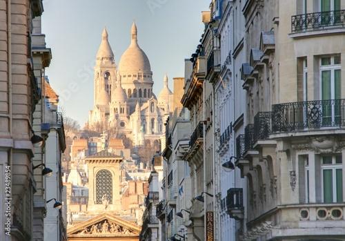 Leinwanddruck Bild rue de paris