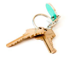 golden keys isolated on white