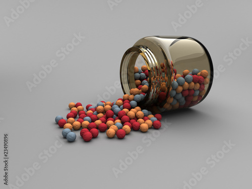 Jar with Radiation Balls