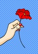 Flower in a hand