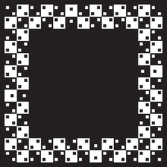 Optical illusion the same parallel squares