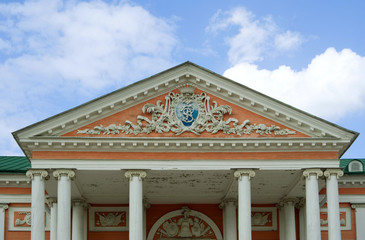 Kuskovo estate, Moscow: gable of the Palace