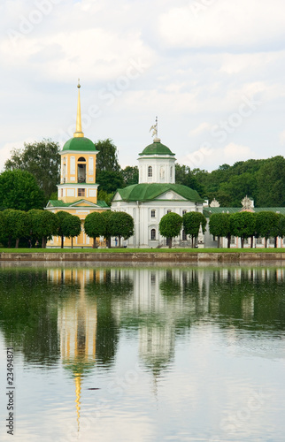 Kuskovo estate, Moscow: church and bell tower
