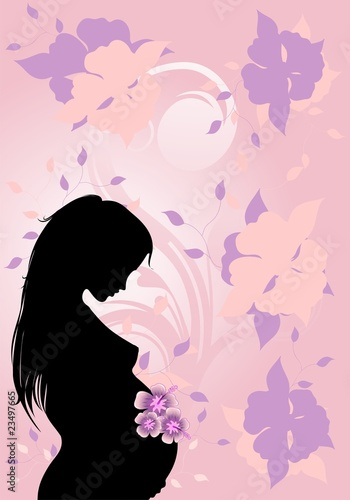 Futura Mamma-Future Mother Background-Vector