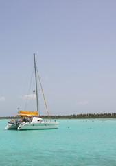 catamarana and people swiming