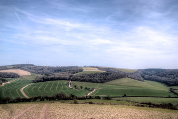 South Downs Looking South towards Amberley